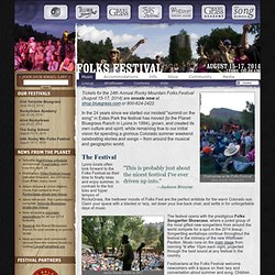 22nd Rocky Mt Folks Festival | Aug. 17-19, 2012 in Lyons, CO