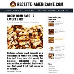 Rocky Road bars - 7 layers bars