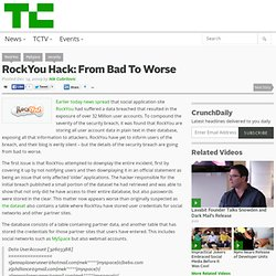 RockYou Hack: From Bad To Worse
