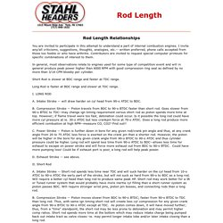 Rod Length article