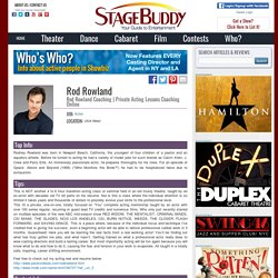 Rod Rowland - StageBuddy.com