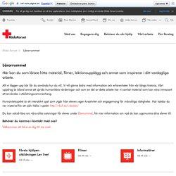 Röda Korset - Lärarrummet