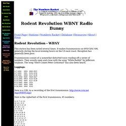 Rodent Revolution WBNY Radio Bunny