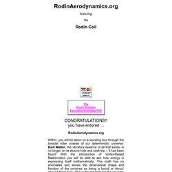 RodinAerodynamics.org - Marko Rodin - Rodin Coil - Waterfox