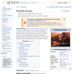 Rodolphe Burger