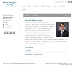 Rodrigo F. Moreira - Solomon Ward Attorney