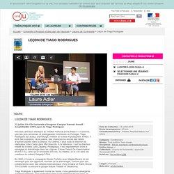 Leçon de Tiago Rodrigues - Université d'Avignon et des pays de Vaucluse