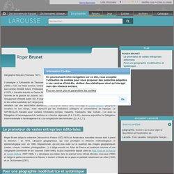 Roger Brunet article E Larousse