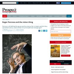 Roger Penrose and the vision thing