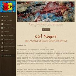 Art Cru - Carl Rogers : une dynamique de l'écoute active non-directive