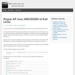 Rogue AP avec AWUS036H et Kali Linux