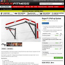 Rogue P-3 Pull-Up System - Single-Unit - Brackets