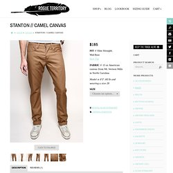Rogue Territory Canvas Stanton Jeans in Camel