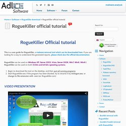 RogueKiller tutoriel officiel