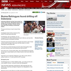 Burma Rohingyas found drifting off Indonesia