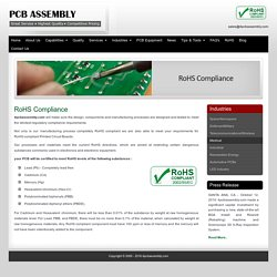RoHS compliant PCB component - 4PCB Assembly