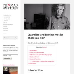 Quand Roland Barthes met les choses au clair – Thomas Hammoudi