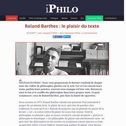 Roland Barthes: le plaisir du texte