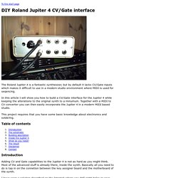 DIY Roland Jupiter 4 CV/Gate interface