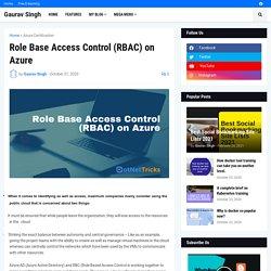 Role Base Access Control (RBAC) on Azur