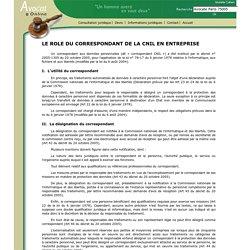 LE ROLE DU CORRESPONDANT DE LA CNIL EN ENTREPRISE