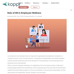 Role of HR in Employee Wellness
