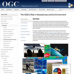 The OGC's Role in Geosciences and the Environment