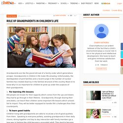Role of grandparents in children's life