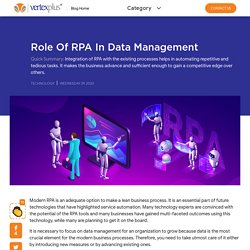 Role of RPA in Data Management