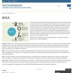 ROLE « MyCourseRoom