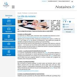 Le rôle du notaire