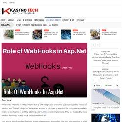 Role Of WebHooks In Asp.Net