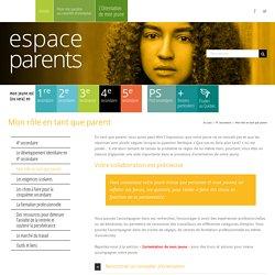 Mon rôle en tant que parent – Espace Parents