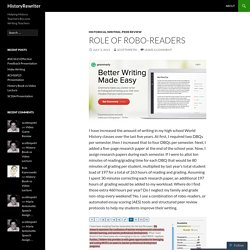 Role of Robo-Readers