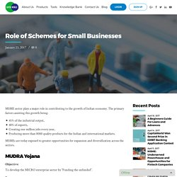 Role of Schemes for Small Businesses