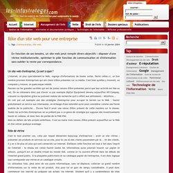 Rôle d'un site web pour une entreprise