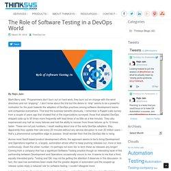 Role Of Software Testing DevOps