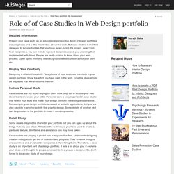 Role of of Case Studies in Web Design portfolio