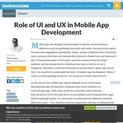Role of UI and UX in Mobile App Development