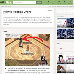How to Roleplay Online: 8 Steps