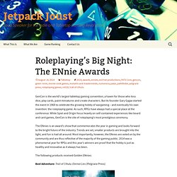 Roleplaying's Big Night: The ENnie Awards