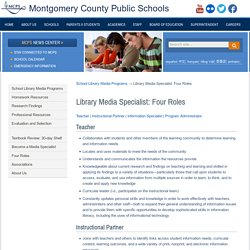 Four Roles of the Library Media Specialist