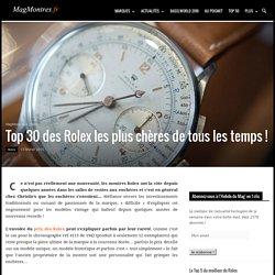 Top 30 des Rolex les plus chères de tous les temps !