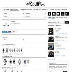 Prix Rolex neuve, prix du neuf montre Rolex - Le Guide des Montres
