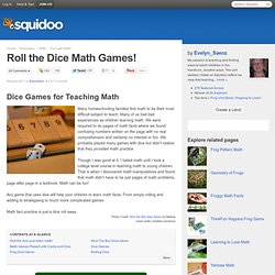 Roll the Dice Math Games!