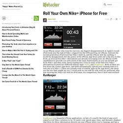 How to roll your own Nike+ iPhone for free