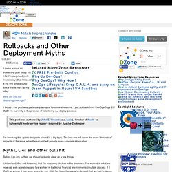 Rollbacks and Other Deployment Myths