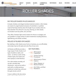 Roller Shades - LA Shades and Blinds in Los Angeles Metropolitan area