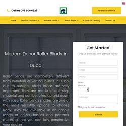 Roller Blinds Dubai I Call 050 420 6474 I Curtains I Sofa I Supply & Service