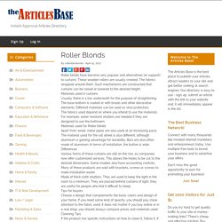 Roller Blonds – The Articles Base